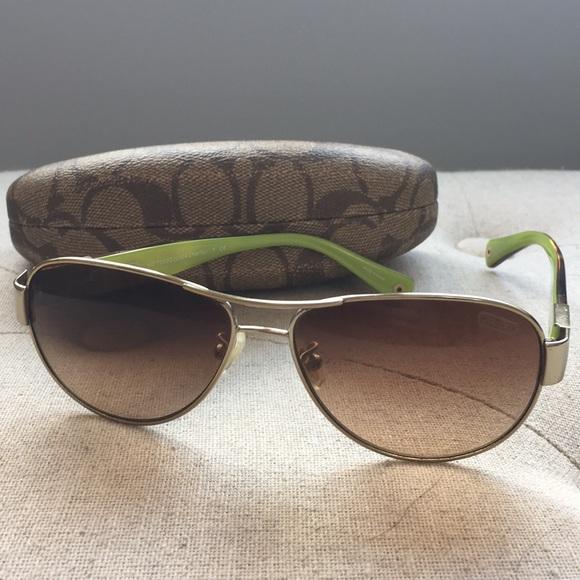 2b4d38299980b Coach Accessories - Coach Charity aviator sunglasses